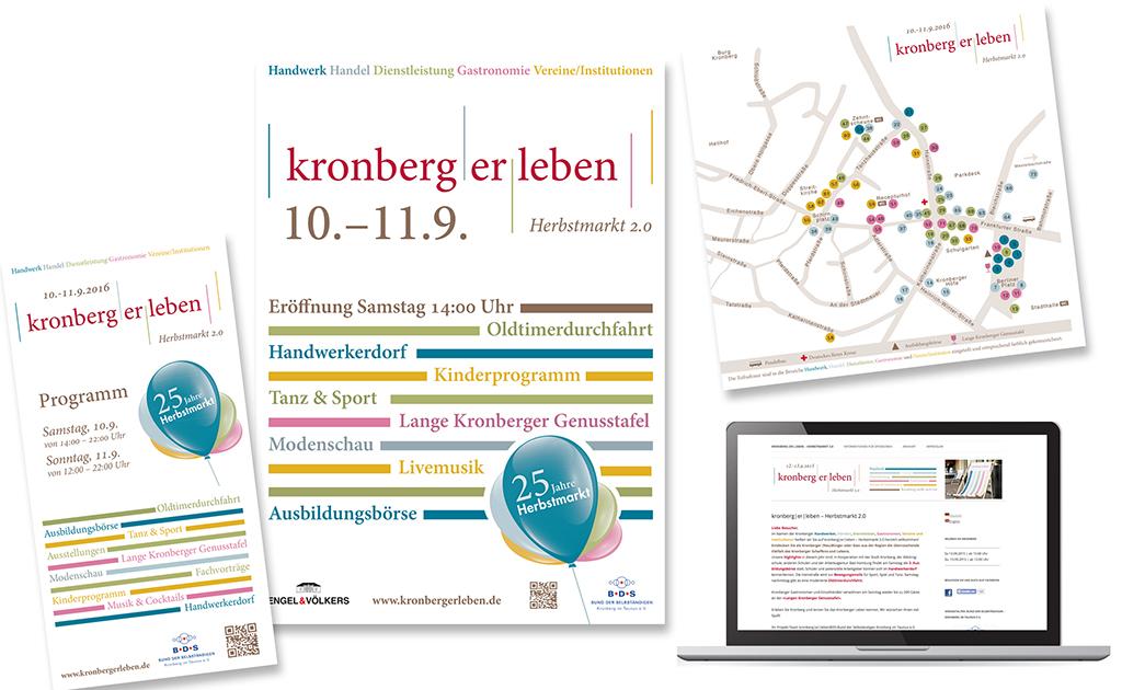 Corporate Design kronberg|er|leben - Herbstmarkt 2.0