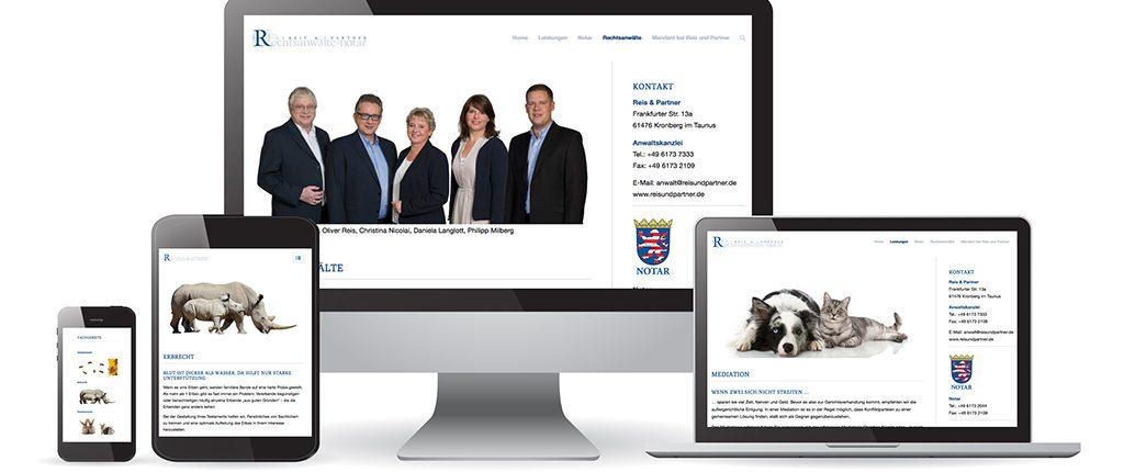 Webdesign Reis und Partner - Rechtsanwälte und Notar